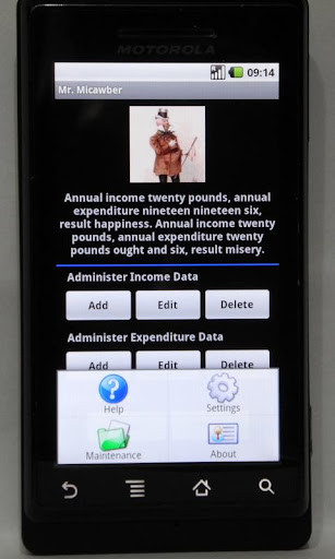 Mr. Micawber - Budget Tracker