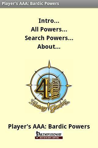 Player's AAA: Bardic Powers