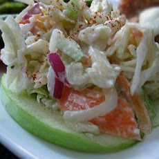 Blue Cheese Coleslaw With Apples and Walnuts