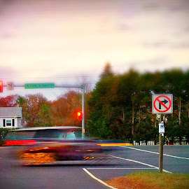 Time Machine on Wheels by Cecilia Sterling - Transportation Other ( abstract, car, digital art, suv, road )