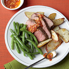 Roast Leg of Lamb with Chile-Garlic Sauce