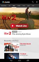 Screenshot of ITV Player