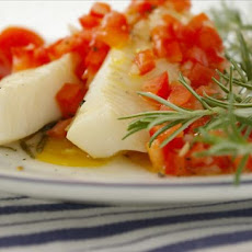 Rosemary Smoked Halibut With Balsamic Vinaigrette