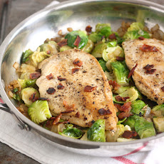 Chicken with Bacon-y Brussels Sprouts