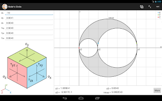Screenshot of Mohr's Circle Advanced