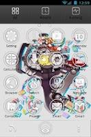 Screenshot of Go Launcher Anime Minimalista