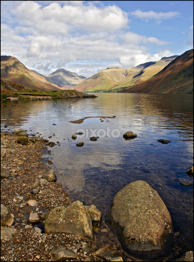 Wastwater by Tim Nicholson - Landscapes Waterscapes ( england, lake district, depth of field, wastwater, lake )