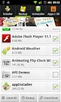 Screenshot of appInstaller