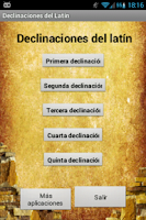 Screenshot of Declinaciones de Latín