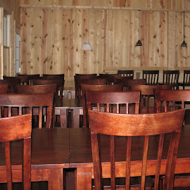 Dining Hall at TWO_Suches. GA by Kaye Petersen - Artistic Objects Furniture ( tables, chairs, furniture, dining hall, Chair, Chairs, Sitting )