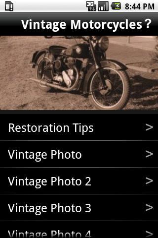 Vintage Motorcycle Restoration
