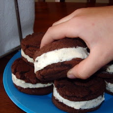 Ice Cream Sandwiches from Cake Mix