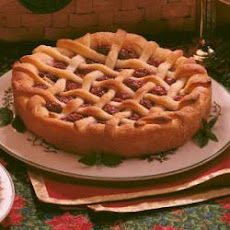 Cherry Lattice Coffee Cake