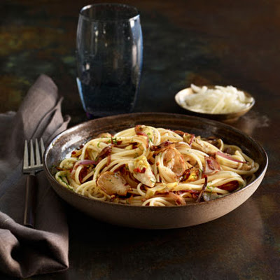 Jerusalem Artichoke and Artichoke Heart Linguine