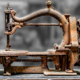 No more sewing by Angelica Glen - Artistic Objects Antiques ( sewing, old, rusty, machine, antique )