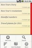 Screenshot of Slide Notes