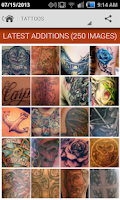 Screenshot of Tattoo Gallery