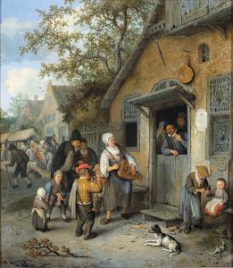 RIJKS: Cornelis Dusart: painting 1704