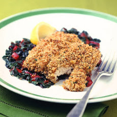 Breaded Catfish Fillets With Braised Swiss Chard