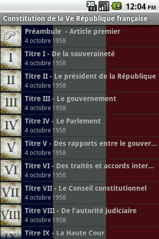 Constitution Française