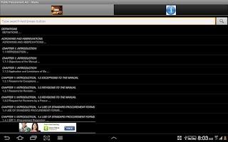 Screenshot of Public Procurement Act - Ghana