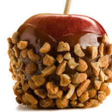 Peanut Butter–Chocolate Caramel Apples with Honey Peanuts Recipe