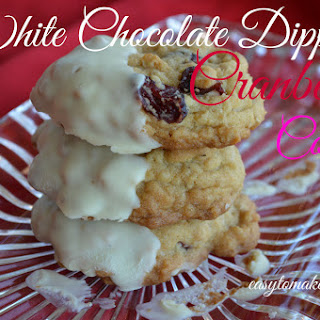 White Chocolate Dipped Cranberry Cookies