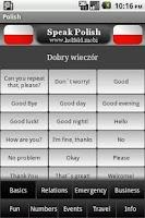Screenshot of Speak Polish Free
