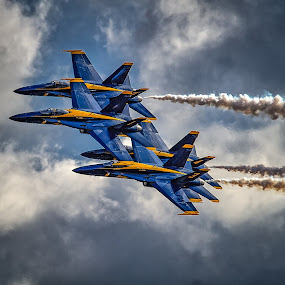 Blue Angels by Ron Meyers - Transportation Airplanes ( f/a-18 hornet, jets, blue angels )