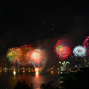 Multicocour  by Kamila Romanowska - Abstract Fire & Fireworks ( acapulco, new year, mexico, nye, fireworks, night, celebration )