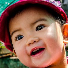 The smile by Khun Myo Than Htun - Babies & Children Child Portraits