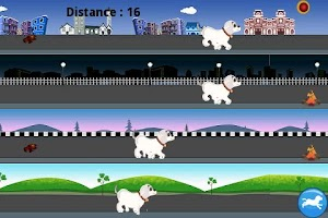 Screenshot of City Street Runner: Dog Jump