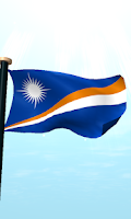 Screenshot of Marshall Islands Flag 3D Free