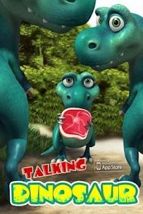 Teens talking dinosaur