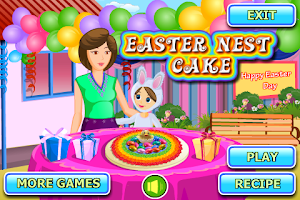 Screenshot of Easter Nest Cake Cooking
