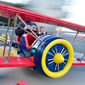 Airplanes! by Diana Desrocher - City,  Street & Park  Amusement Parks ( park, airplanes, amusement, motion, toddler, boy )