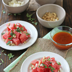 Watermelon Salad with Sriracha Vinaigrette