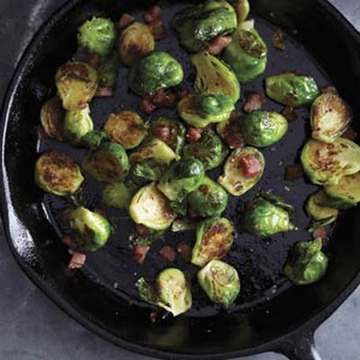 Charred Brussels Sprouts with Pancetta and Fig Glaze