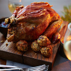 Roast Guinea Fowl With Chestnut, Sage & Lemon Stuffing