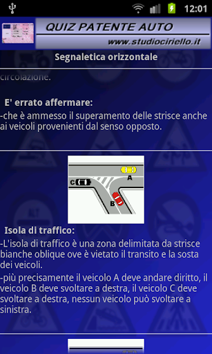 quiz-patente-2014 for android screenshot