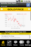 Screenshot of Gold Price Live