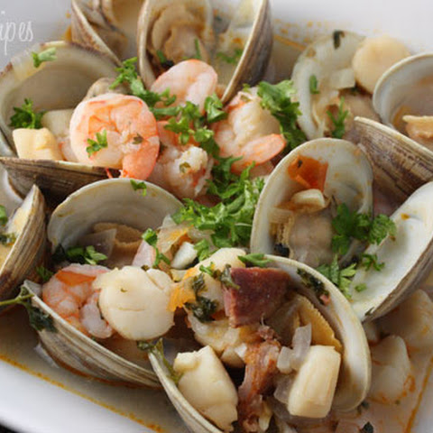 10 best shrimp scallop sausage recipes yummly for Portuguese fish stew