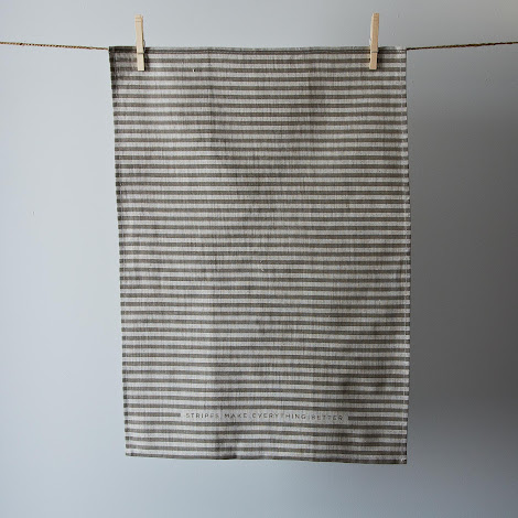 """Best"" Stripe Tea Towel"