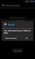 Screenshot of Death Calculator