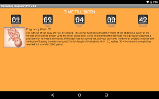 Screenshot of WomanLog Pregnancy Pro