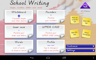 Screenshot of School Writing learn to write