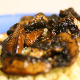 Balsamic Braised Mushrooms and Couscous