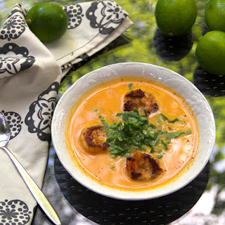 COCONUT SWEET POTATO SOUP WITH SHRIMP