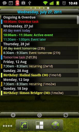 Agenda Widget