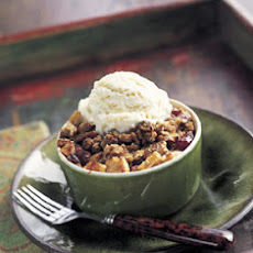 Apple and Cranberry Crisps with Ginger-Pecan Topping